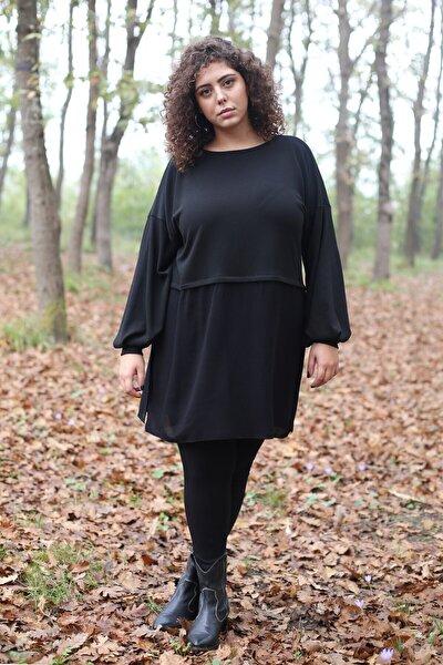 Kadın Siyah Garnili Tunik