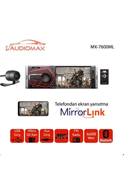 Audiomax Mx-7600ml 4 Inç Mirror Link Ekranlı Oto Teyp Kameralı Kumandalı