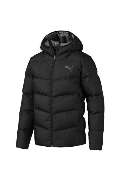 Erkek Siyah Essentials 400 Down Hooded Jacket Mont