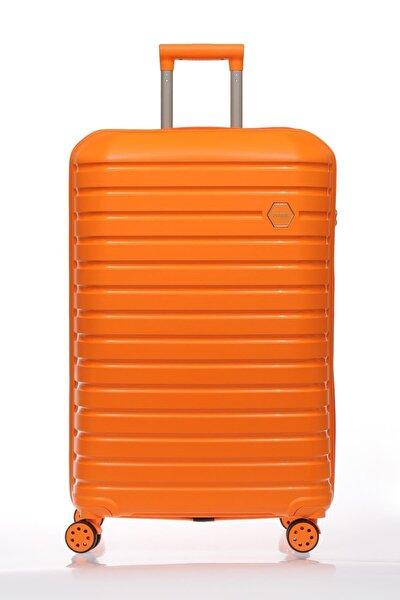 Turuncu Unisex Kabin Boy Valiz & Bavul Fsy1137