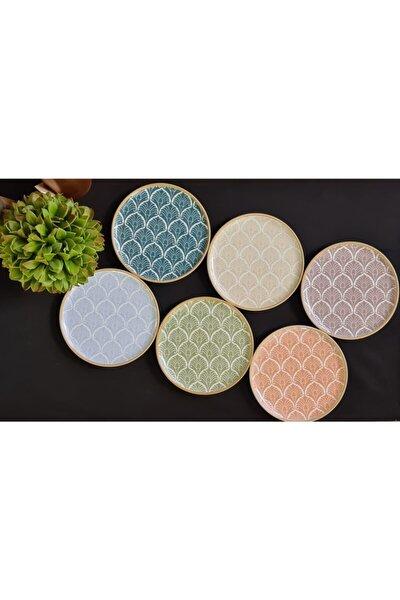 Aicha 6 Parça 6 Kişilik Porselen Pasta Servis Takımı