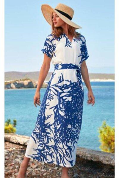 Kadın Elbise Mavi 8756