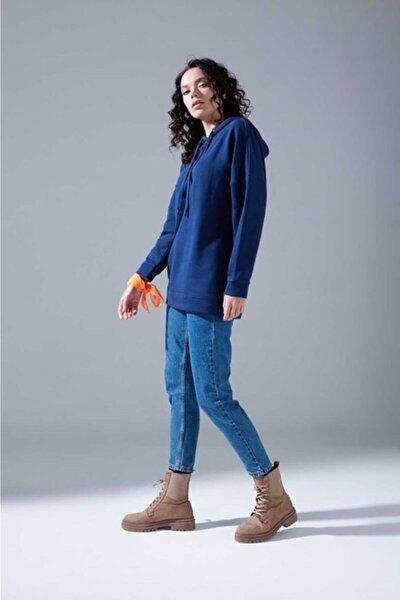 Kadın Indigo Oversize Sweatshirt