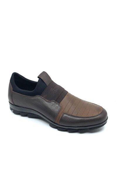 Erkek Kahverengi Hakiki Deri Casual  Kauçuk Taban  Kışlık Ayakkabı 8580 553 636