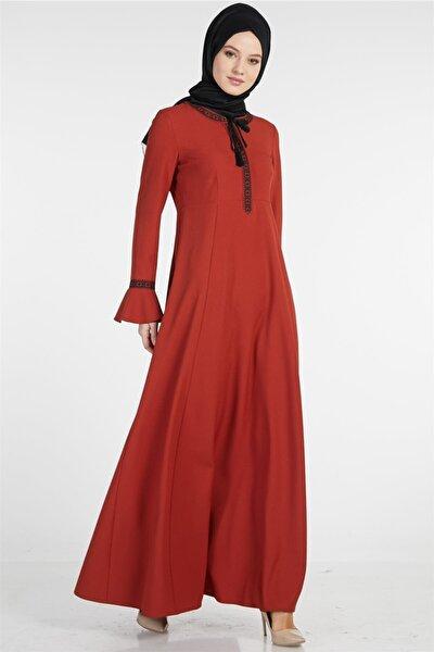 Kadın Kiremit Elbise Tuğba-TK-Z7708