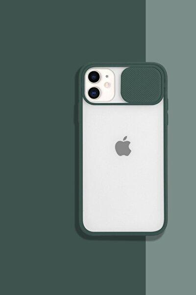 Iphone11 Kamera Koruyuculu Haki Kılıf