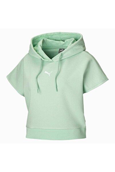 Kadın  Mint Yeşili  Kısa Kollu Spor Sweatshirt