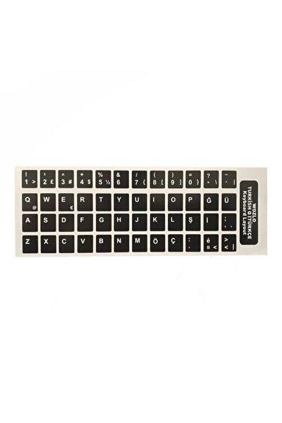Türkçe Siyah Q Klavye Etiketi - Laptop Pc Sticker