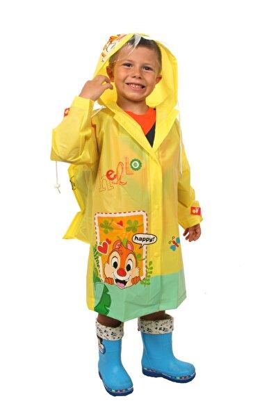 Unisex Çocuk Sarı Yağmurluk
