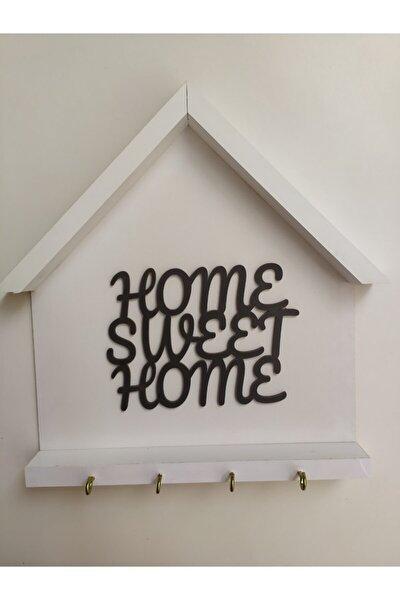 Beyaz Anahtarlık Home Sweet Home Yazılı