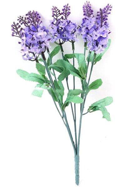 Yapay Çiçek 10 Kafa Lila Lavanta Demeti