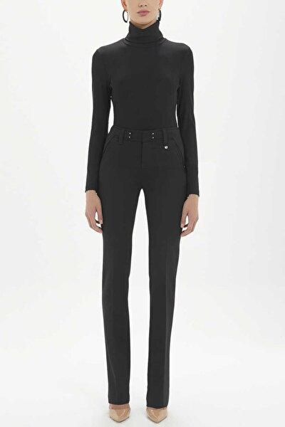- Metal Aksesuarlı Pantolon 40714 Siyah