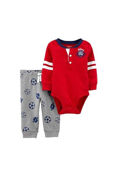 Erkek Bebek Kırmızı 2'li Takım 1j200310