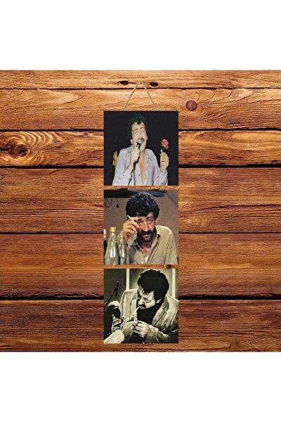Müslüm Gürses Üçlü Retro Ahşap Poster Ü125