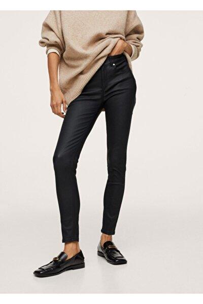 Kadın Siyah Skinny Push-up Jean Pantolon