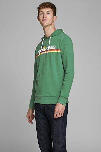 Erkek Yeşil Pamuklu Sweatshirt 12167972