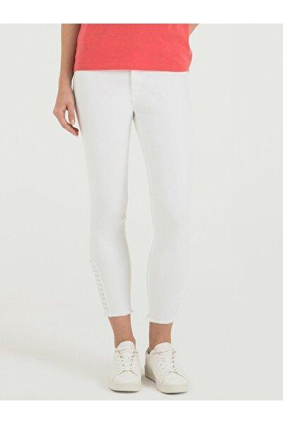 Kadın Beyaz Pantolon LF2016492