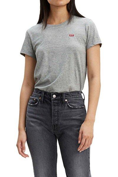Kadın Gri T-Shirt 39185-0030