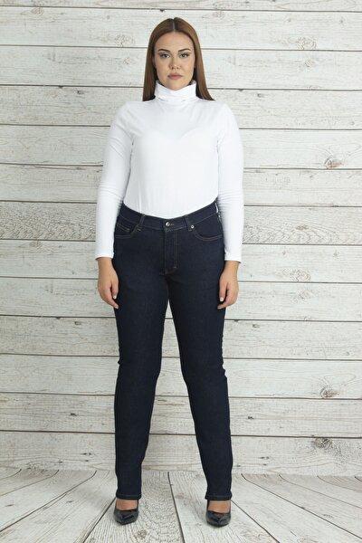 Kadın Lacivert Yüksek Bel 5 Cep Kot Pantolon 65N19992