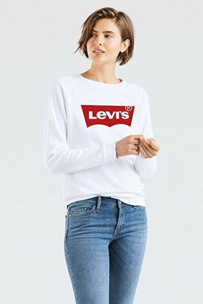 Kadın Beyaz Baskılı Sweatshirt 29717-0063