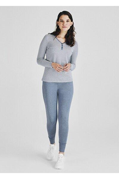 Kadın İndigo Pijama Takım