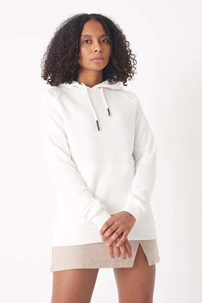 Kadın Ekru Cep Detaylı Sweatshirt S7066-1 ADX-0000019965