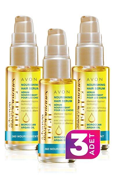 Advance Techniques Fas Argan Yağı İçeren Besleyici Saç Serumu 30ml - 3'lü Paket