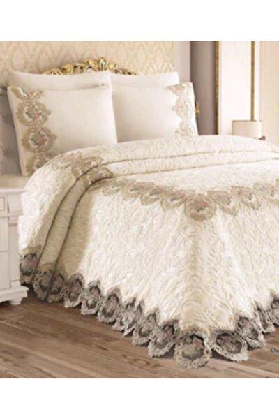 Maria Fransız Dantelli Battaniye Seti Yatak Örtüsü