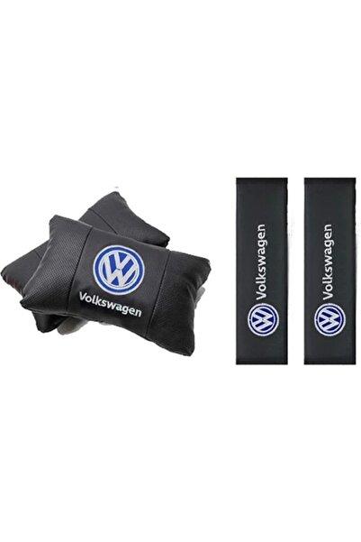 Volkswagen Deri 2 Adet Boyun Yastığı Ve Kemer Pedi Takımı