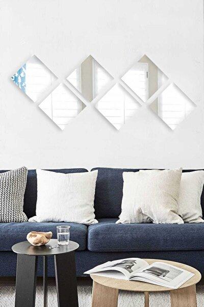 6 Parça 20x20cm Antre Hol Koridor Duvar Salon Mutfak Banyo Wc Ofis Çocuk Yatak Odası Set Ayna