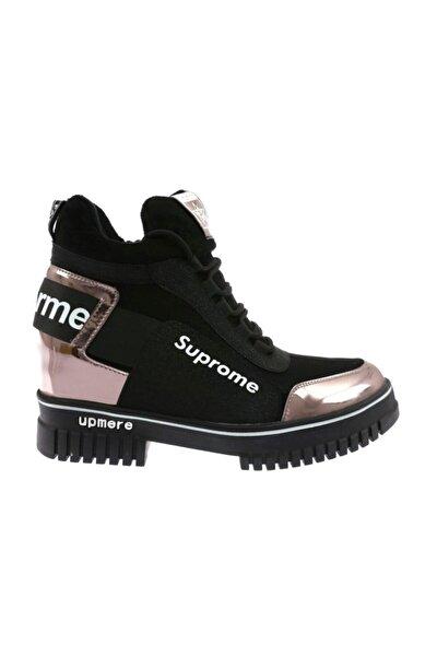 20k330-2 Kadın Bağcıklı Yan Fermuarlı Sneakers Bilek Bot 20k