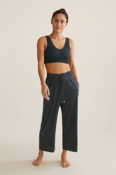 Kadın Gri Modal Culotte Pantolon