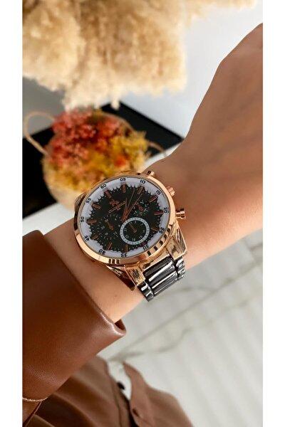 Bay &bayan Çelik Analog Rolex Model Kol Saati