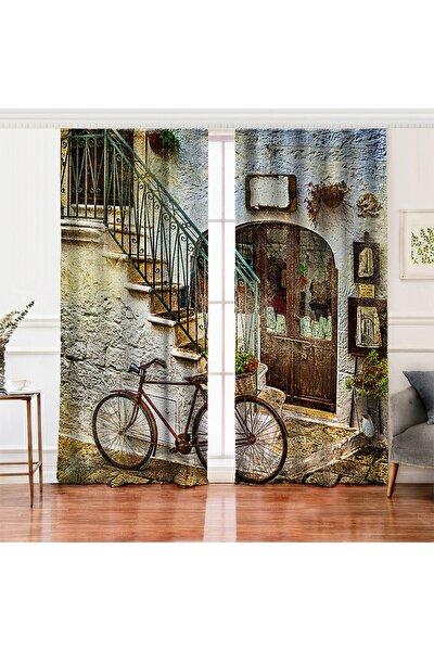 Çift Kanat Real Homes Dijital Baskılı Salon Fon Perdesi