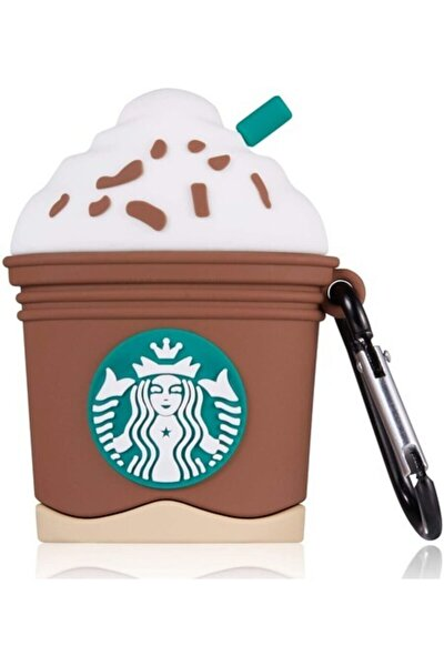 Sevimli Starbucks Kahverengi Airpods Kılıfı 1. Ve 2. Nesil Uyumlu
