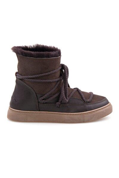 Kadın Kahverengi Kürklü Sneaker 355050