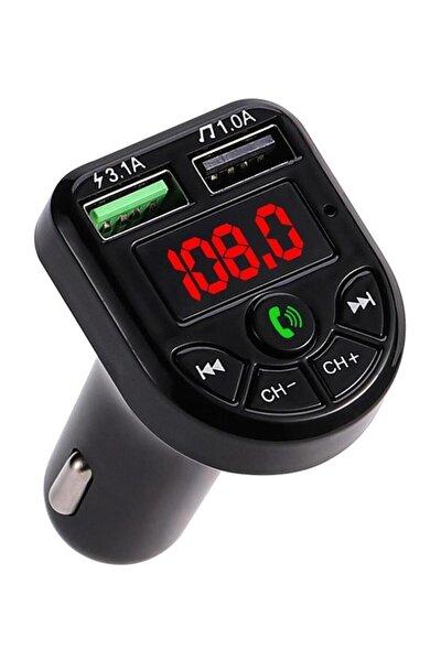 Car X8 Bluetooth Araç Kiti Fm Transmitter Çift Usb Girişli