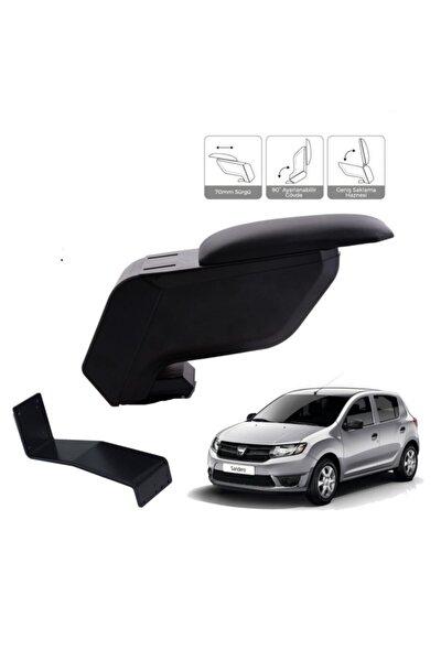 Dacia Sandero 2012-2020 Delmesiz Çelik Ayaklı Siyah Kolçak Kol Dayama