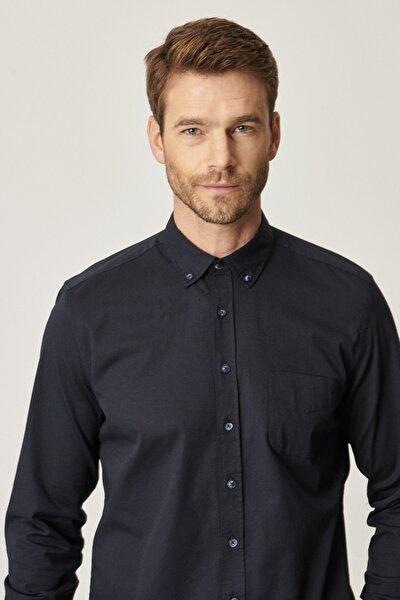 360 Derece Her Yöne Esneyen Tailored Slim Fit Düğmeli Yaka Gömlek