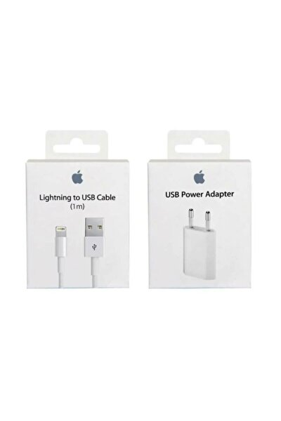 Iphone Orijinal Şarj Aleti Cihazı + Usb Kablosu Orjinal Lightning