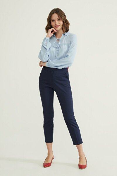 Kadın Lacivert Lastikli Pantolon 15332178011018