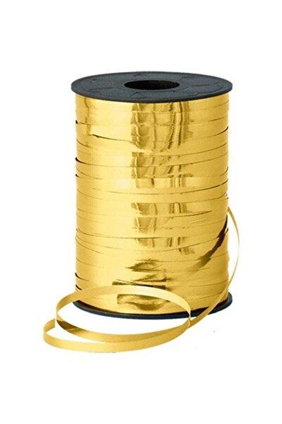 1 Adet Metalik Altın Rengi Gold Rafya 200 M Balon Ipi