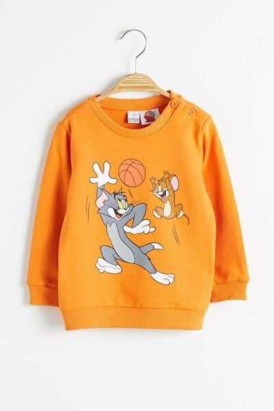 Tom&Jerry Erkek Bebek Turuncu Ge5 Sweatshirt