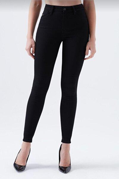Kadın Siyah Dar Paça Yüksek Bel Mükemmel Toparlayıcı Pantolon