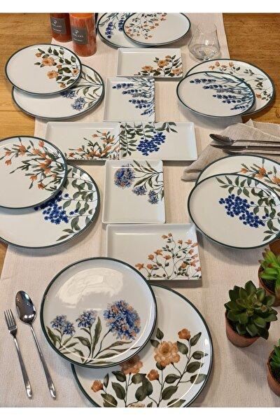 Flower Garden Karma Ikram Ve Kahvaltı Takımı 18 Parça
