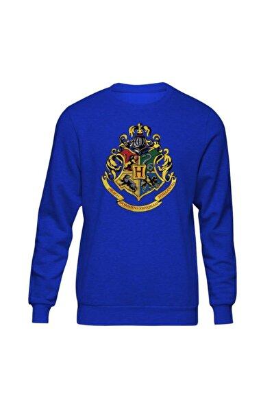 Unisex Mavi Harry Potter Hogwarts II Sweatshirt