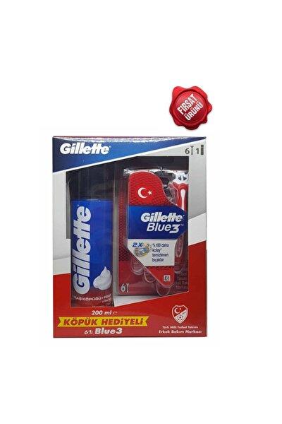 Blue3 Milli Takım Özel Paketi 6lı Tıraş Bıçağı + 200ml Tıraş Köpüğü