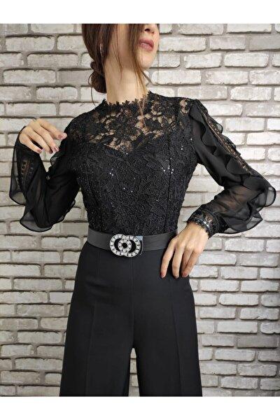 Kadın Siyah Tulum Elbise