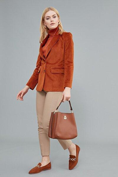 Kadın Ceket Klasik Yaka, Tek Düğme