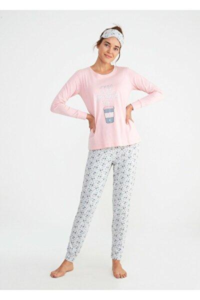 Kadın Pembe Bella Spor Pijama Takımı